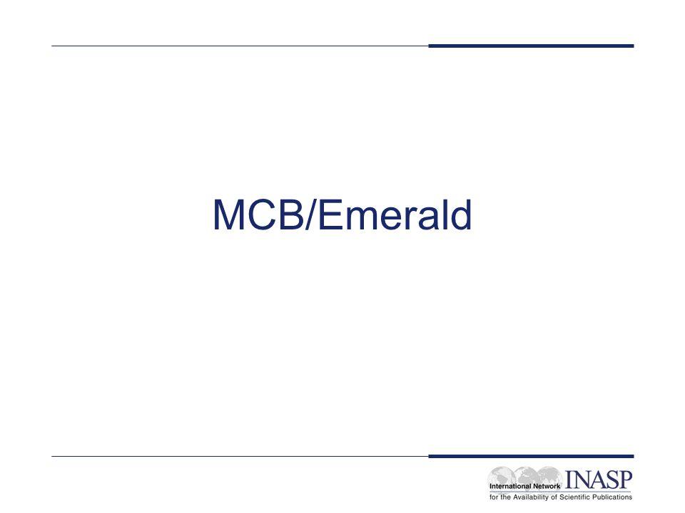 MCB/Emerald