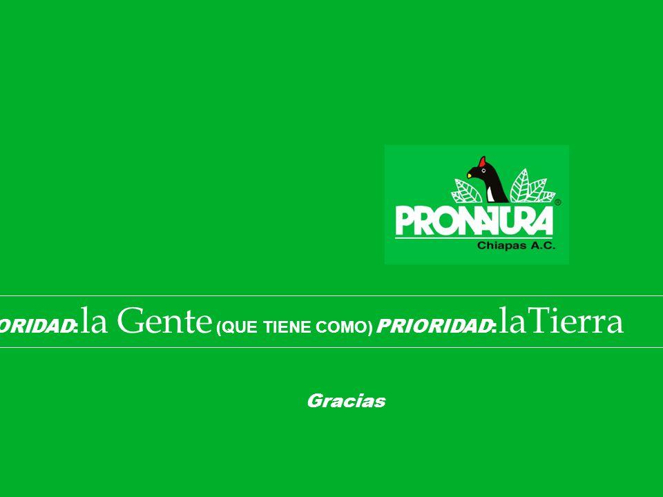 PRIORIDAD: la Gente (QUE TIENE COMO) PRIORIDAD: laTierra Gracias
