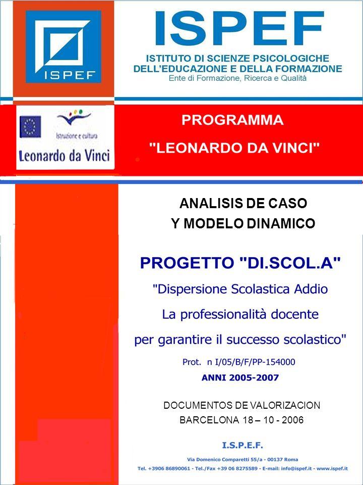 1 ANALISIS DE CASO Y MODELO DINAMICO DOCUMENTOS DE VALORIZACION BARCELONA 18 – 10 - 2006