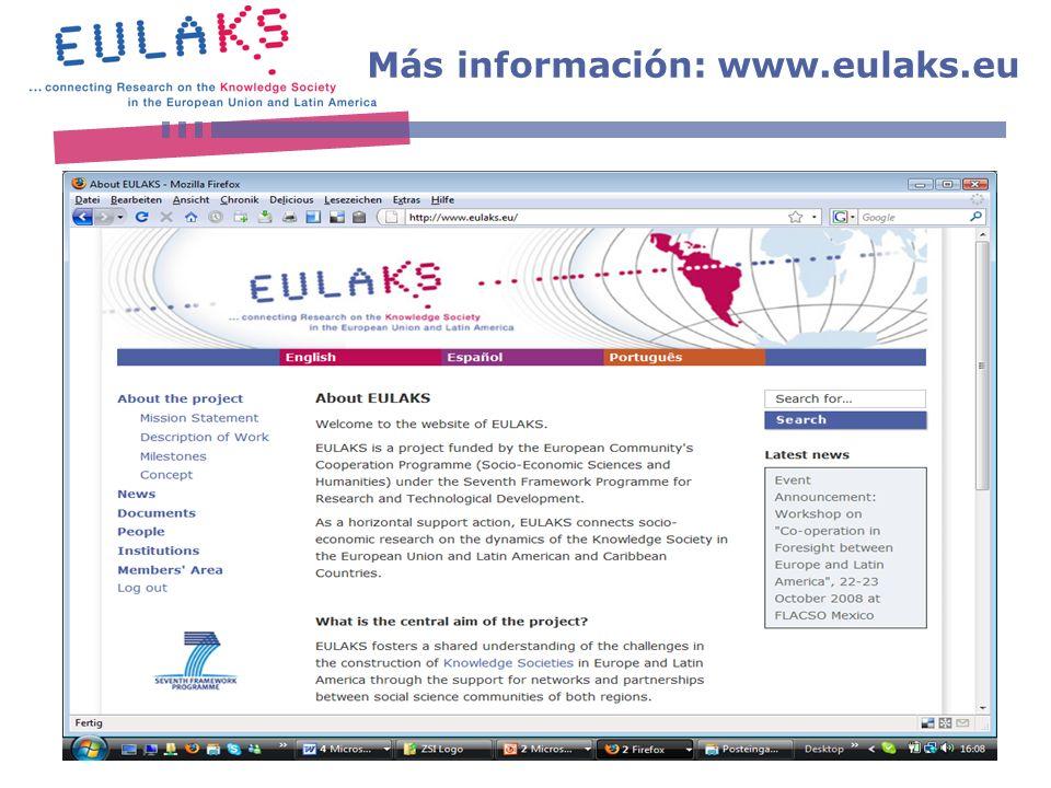 www.eulaks.eu Más información: www.eulaks.eu