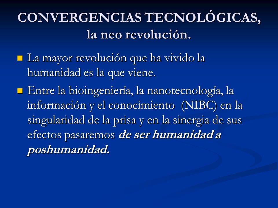 CONVERGENCIAS TECNOLÓGICAS, la neo revolución. La mayor revolución que ha vivido la humanidad es la que viene. La mayor revolución que ha vivido la hu