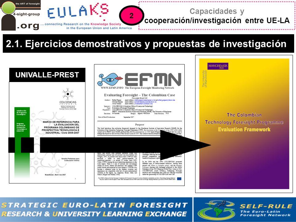 Capacidades y cooperación/investigación entre UE-LA 2.1.