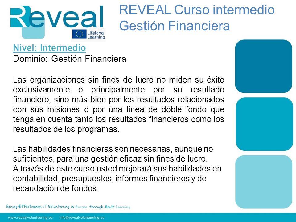 Nivel: Intermedio Dominio: Gestión Financiera Las organizaciones sin fines de lucro no miden su éxito exclusivamente o principalmente por su resultado