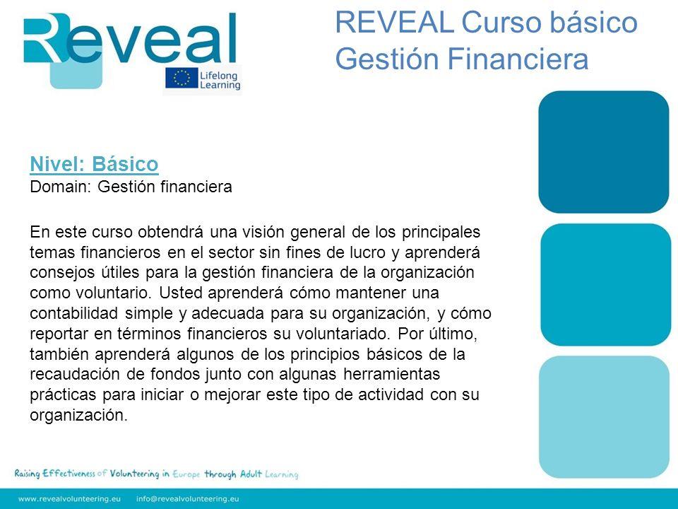 Nivel: Básico Domain: Gestión financiera En este curso obtendrá una visión general de los principales temas financieros en el sector sin fines de lucr