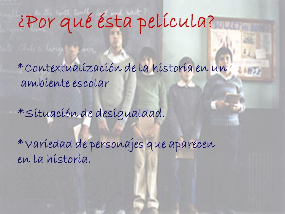 Personajes: * Gonzalo Infante : Niño de clase acomodada perteneciente Al colegio religioso Saint Patrix.