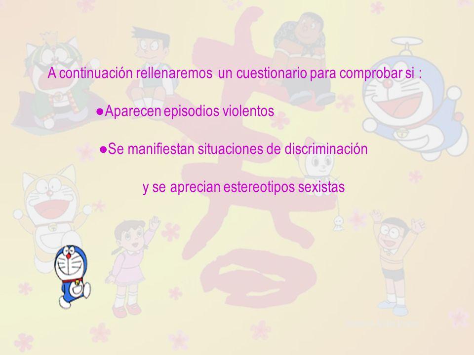 Raquel Ávila Parra A continuación rellenaremos un cuestionario para comprobar si : Aparecen episodios violentos Se manifiestan situaciones de discrimi