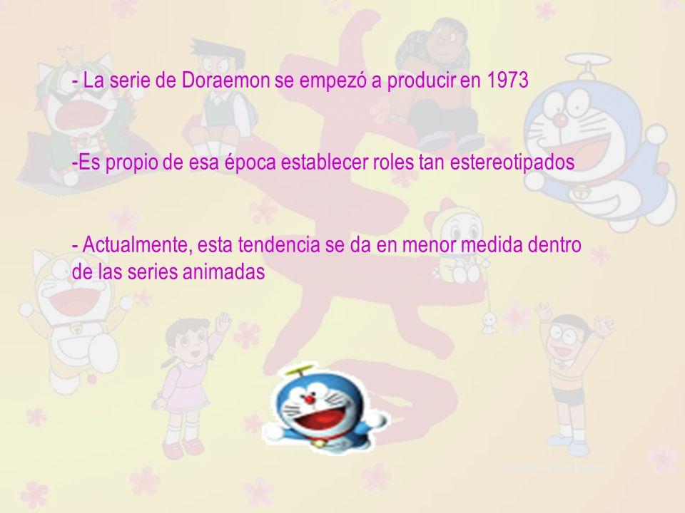 Raquel Ávila Parra - La serie de Doraemon se empezó a producir en 1973 -Es propio de esa época establecer roles tan estereotipados - Actualmente, esta