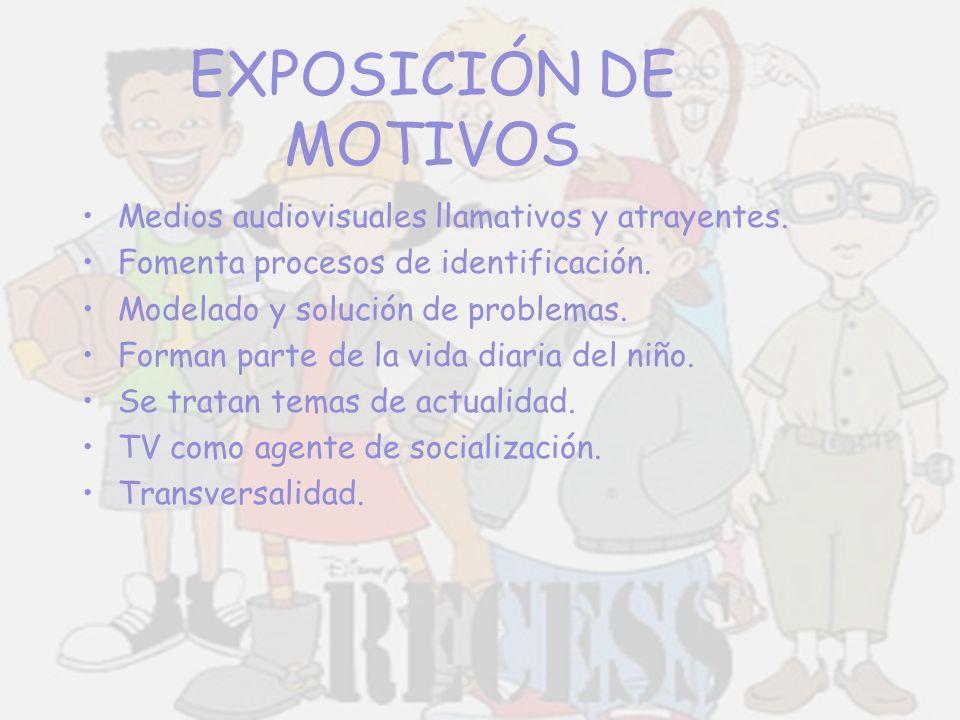EXPOSICIÓN DE MOTIVOS Medios audiovisuales llamativos y atrayentes. Fomenta procesos de identificación. Modelado y solución de problemas. Forman parte
