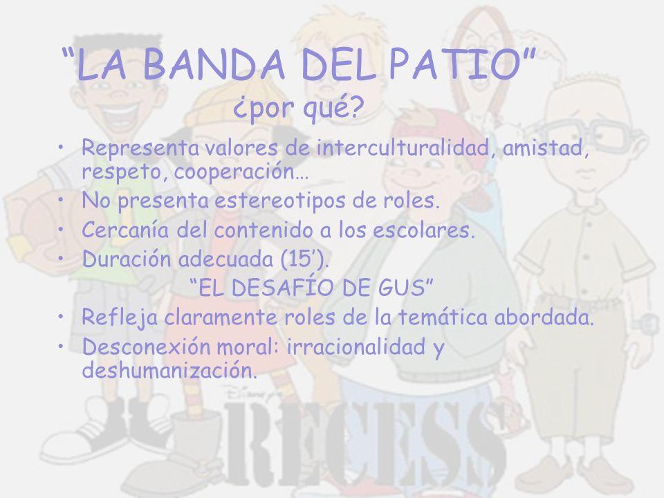 LA BANDA DEL PATIO personajes T.J.