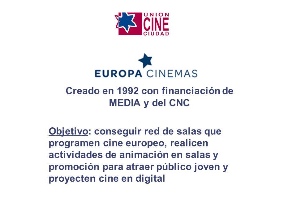 Creado en 1992 con financiación de MEDIA y del CNC Objetivo: conseguir red de salas que programen cine europeo, realicen actividades de animación en s