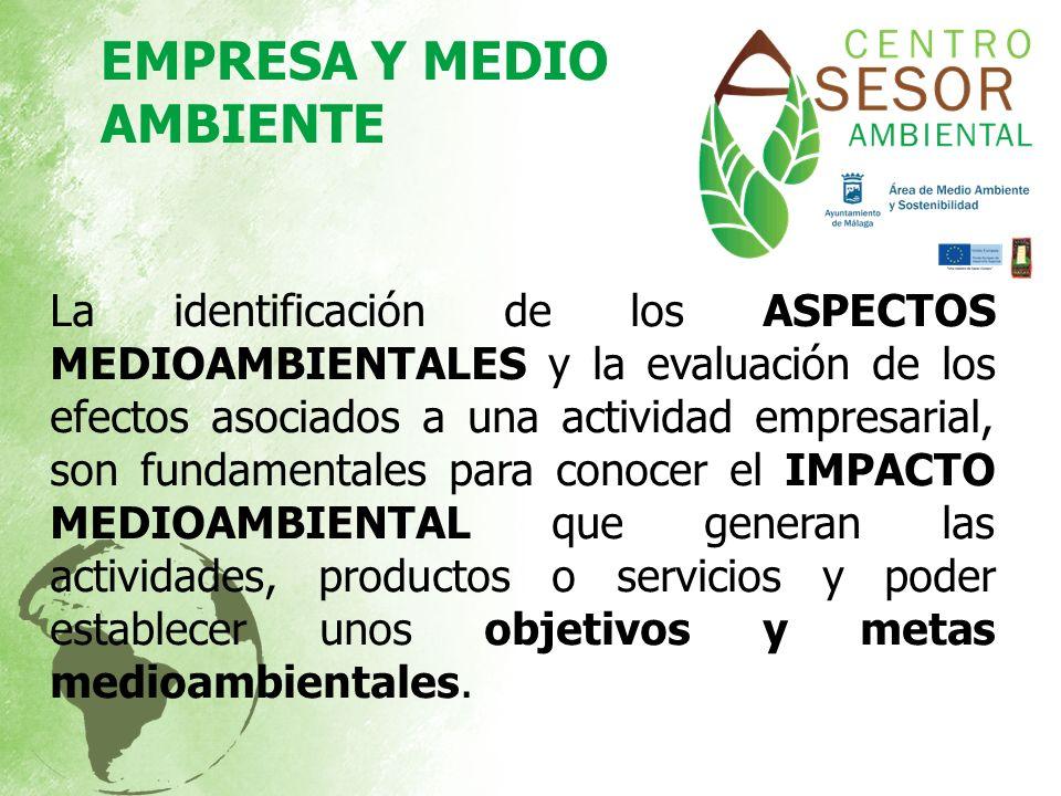 La identificación de los ASPECTOS MEDIOAMBIENTALES y la evaluación de los efectos asociados a una actividad empresarial, son fundamentales para conoce