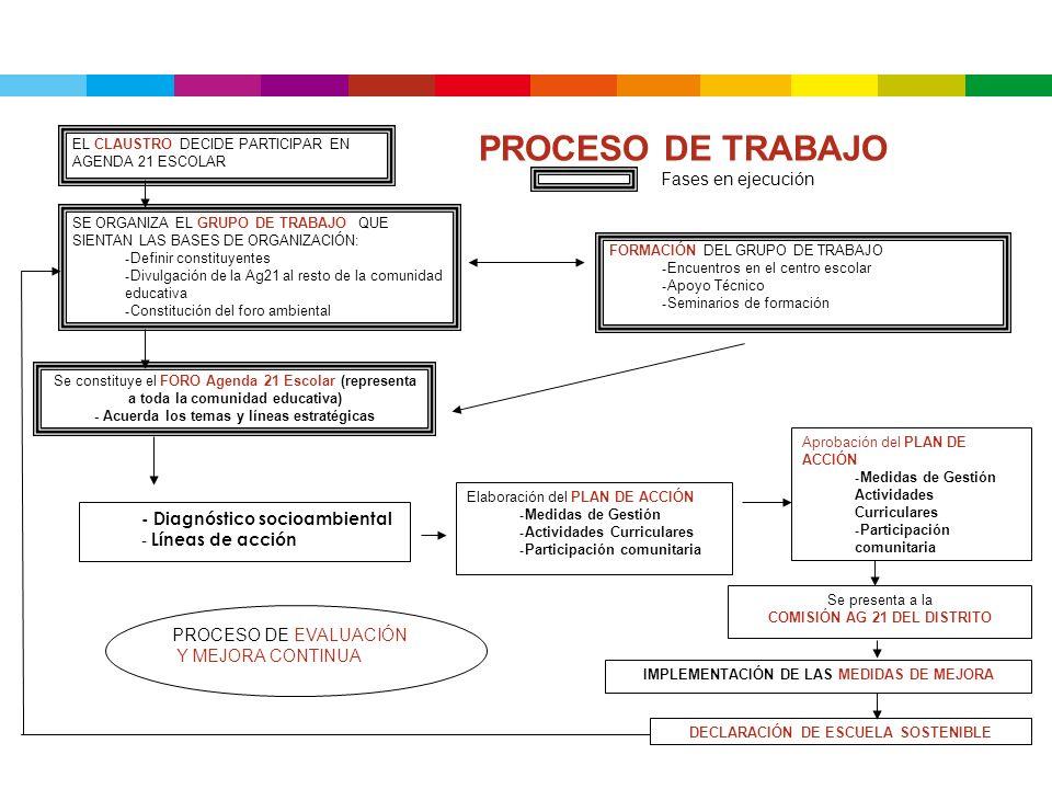 EL CLAUSTRO DECIDE PARTICIPAR EN AGENDA 21 ESCOLAR SE ORGANIZA EL GRUPO DE TRABAJO QUE SIENTAN LAS BASES DE ORGANIZACIÓN: - Definir constituyentes - D