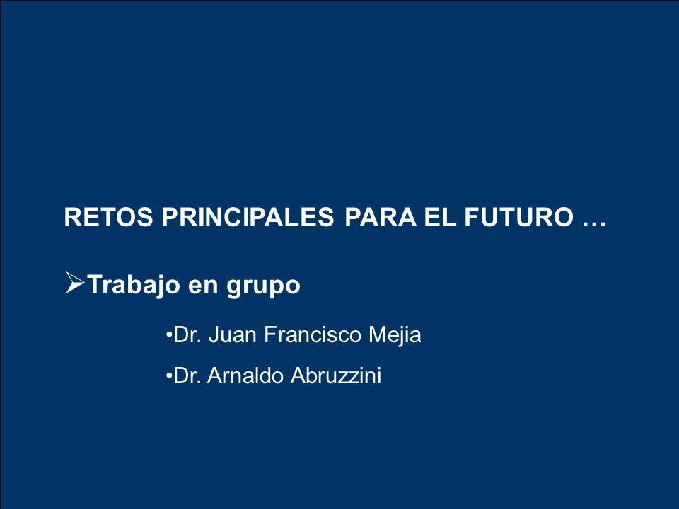 RETOS PRINCIPALES PARA EL FUTURO … Trabajo en grupo Dr. Juan Francisco Mejia Dr. Arnaldo Abruzzini