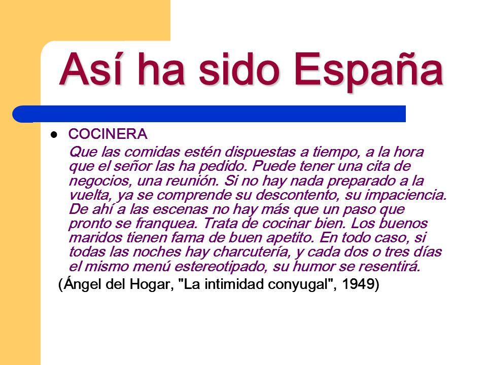 Así ha sido España Una legislación basada en la discriminación de la mujer: los Códigos Civil (1889), Penal (1870) y de Comercio (1885).