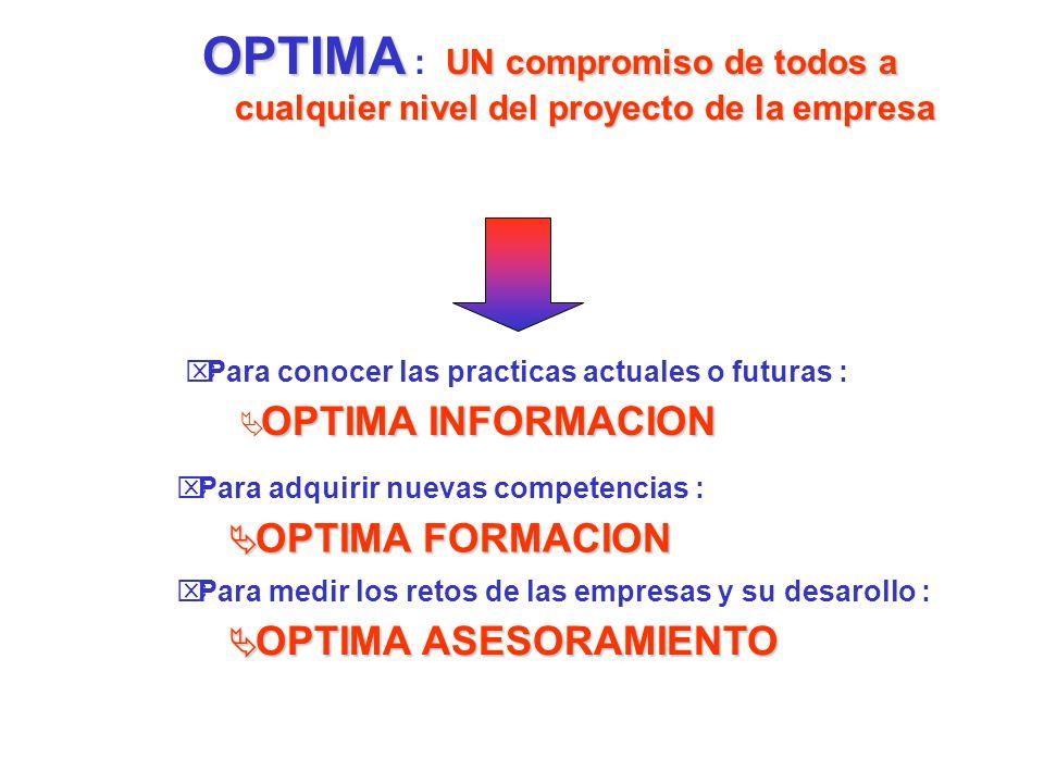 OPTIMA un compromiso de la Camara con sus empresas, sus clientes...