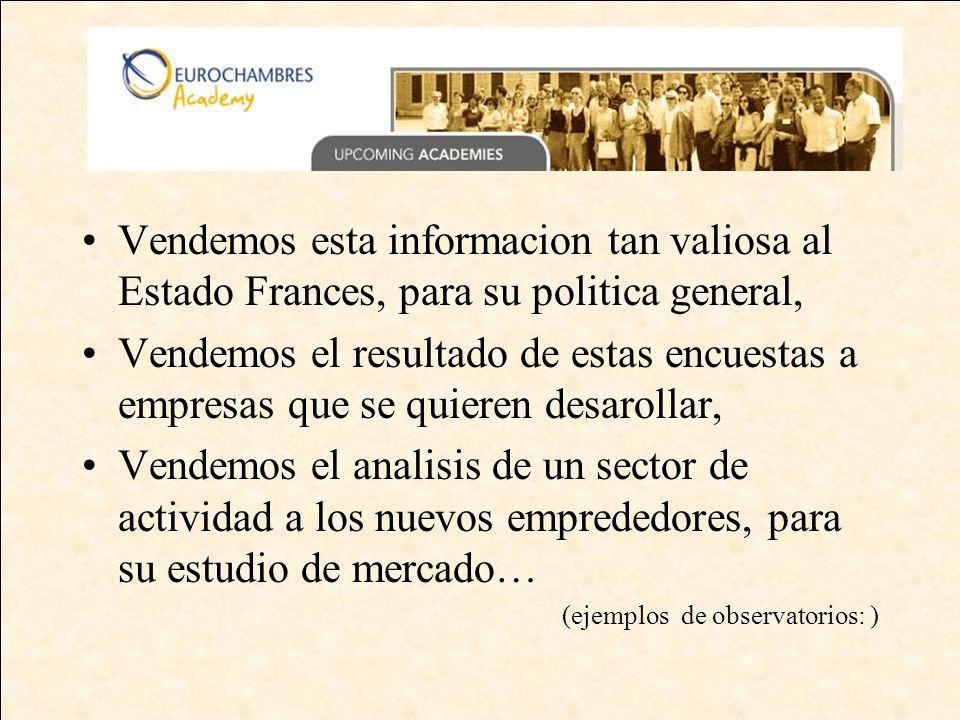 CRM: Base de datos sobre las empresas Segun los proyectos Actualizacion cada 2 años Actualizacion anual Encuestas sectoriales : - industrias - commercio - servicios a las empresas -...