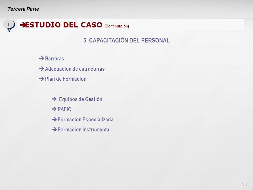 21 IVIV IVIV ESTUDIO DEL CASO (Continuación) ESTUDIO DEL CASO (Continuación) 5.