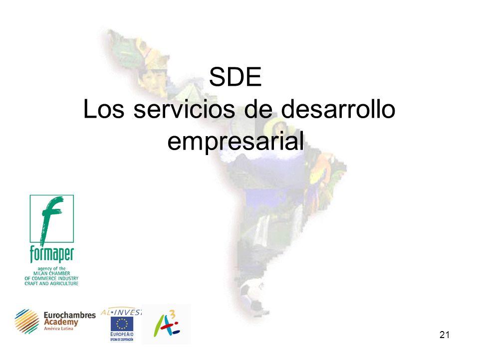21 SDE Los servicios de desarrollo empresarial