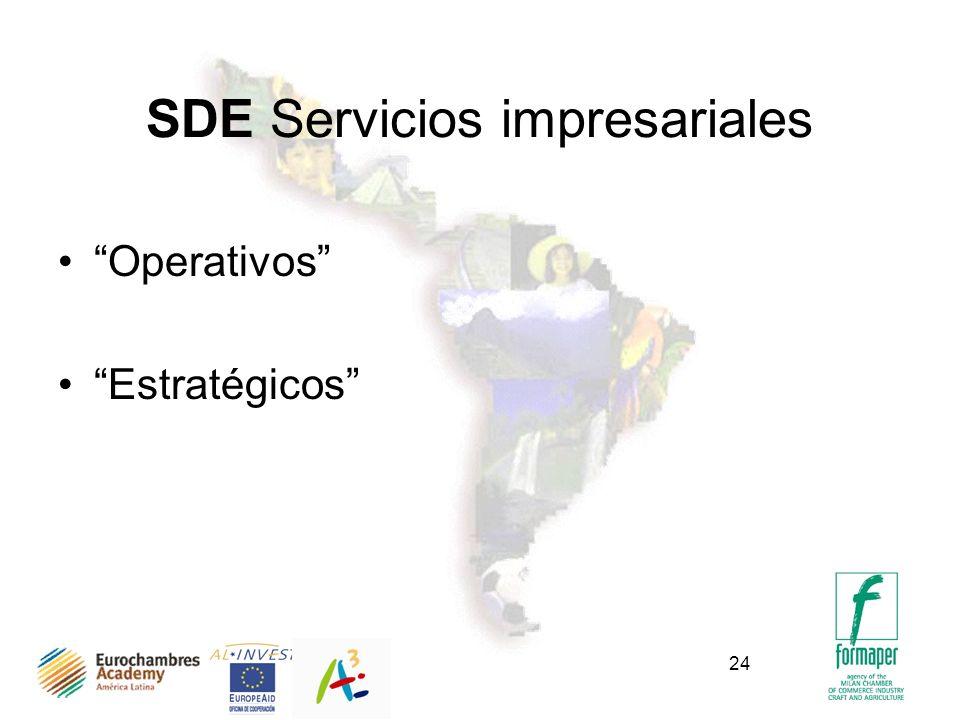 24 SDE Servicios impresariales Operativos Estratégicos