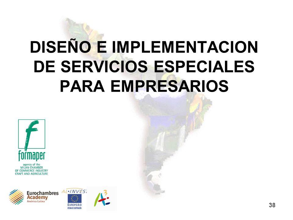 38 DISEÑO E IMPLEMENTACION DE SERVICIOS ESPECIALES PARA EMPRESARIOS