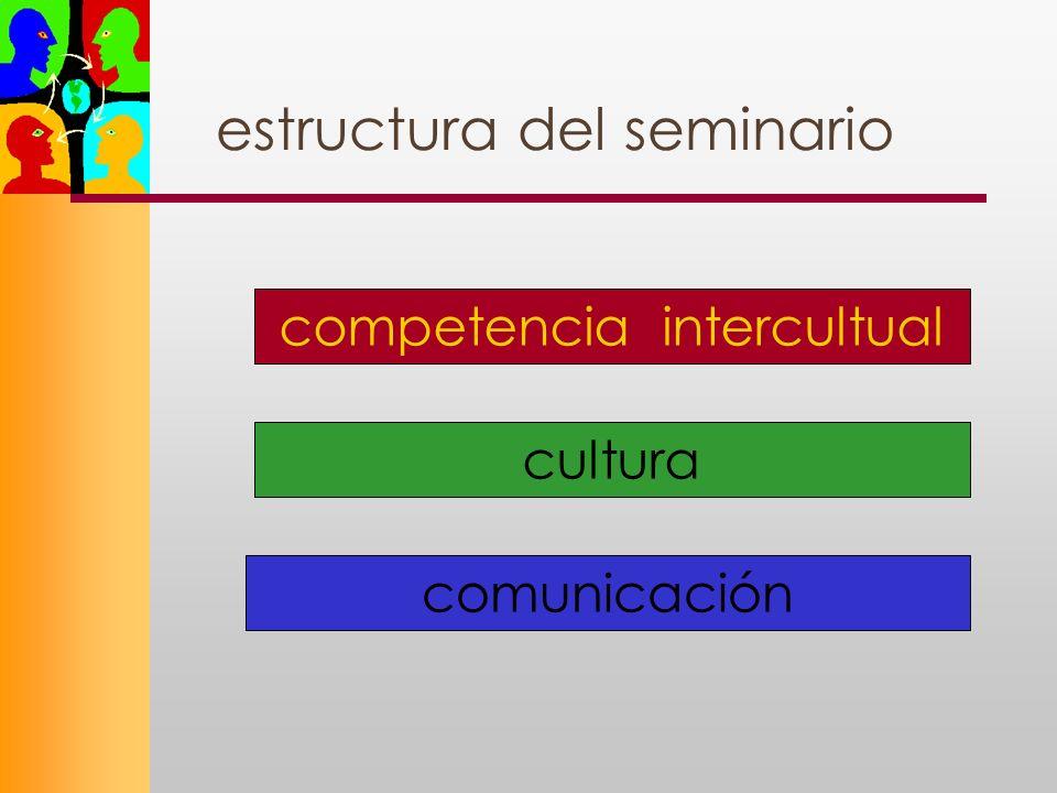 estructura del seminario comunicación competencia intercultual cultura
