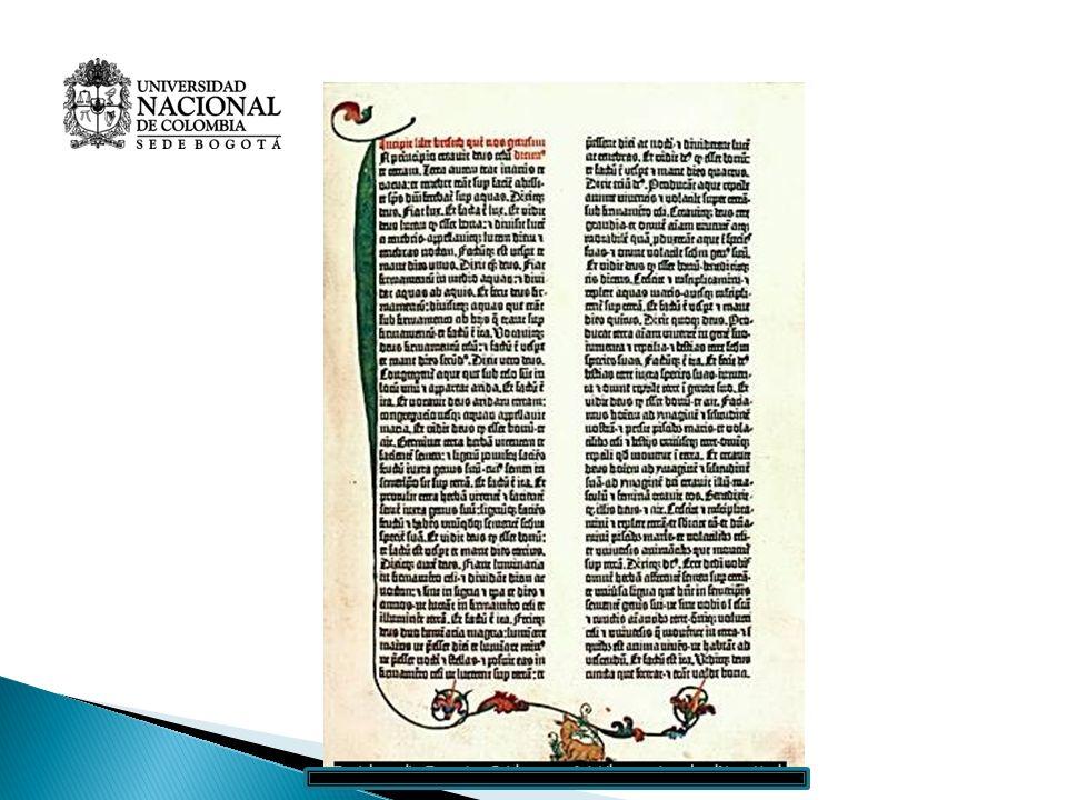 Invento de la imprenta tipográfica (1434- 1449) -J-Johannes Gensfleisch zur Laden zum Gutenberg (1400) Utilizó: El molde xilográfico Experiencia en fu