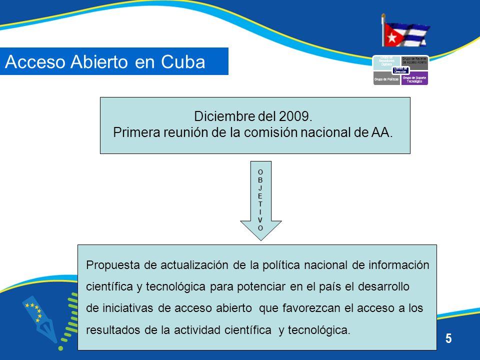 6 Primer trimestre del 2010 Diagnóstico inicial del Acceso Abierto en Cuba.