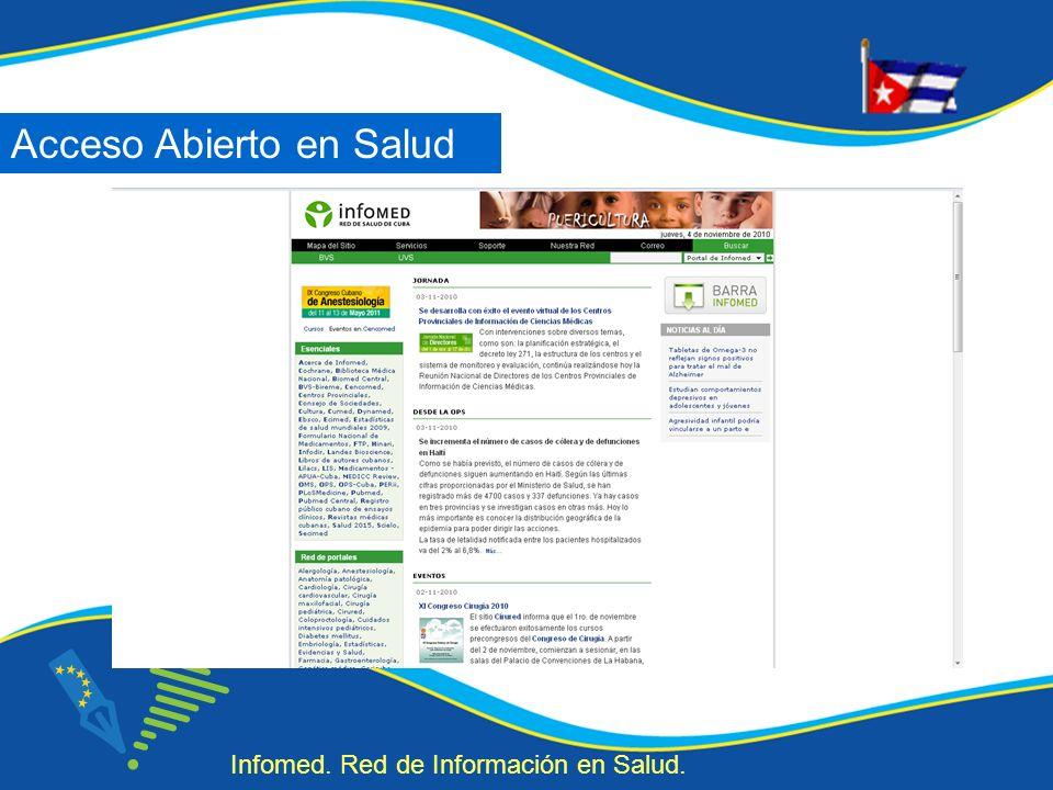 Acceso Abierto en Salud Infomed. Red de Información en Salud.
