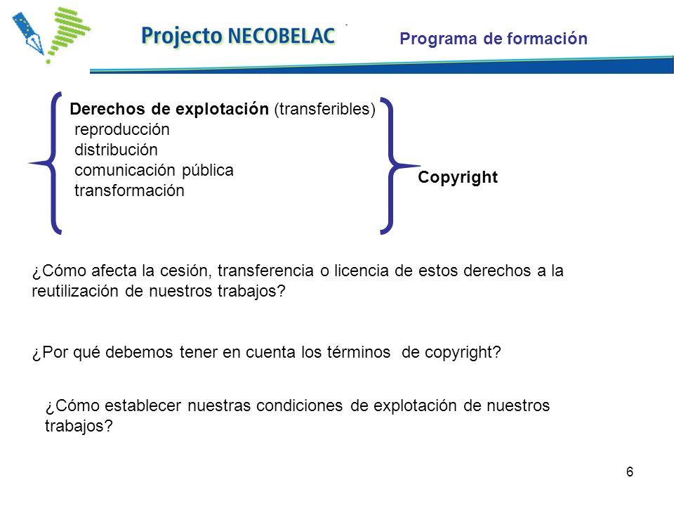 7 ¿Por qué debemos tener en cuenta los términos de copyright.