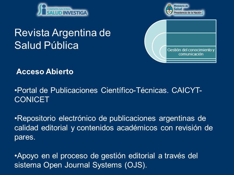 Acceso Abierto Portal de Publicaciones Científico-Técnicas.