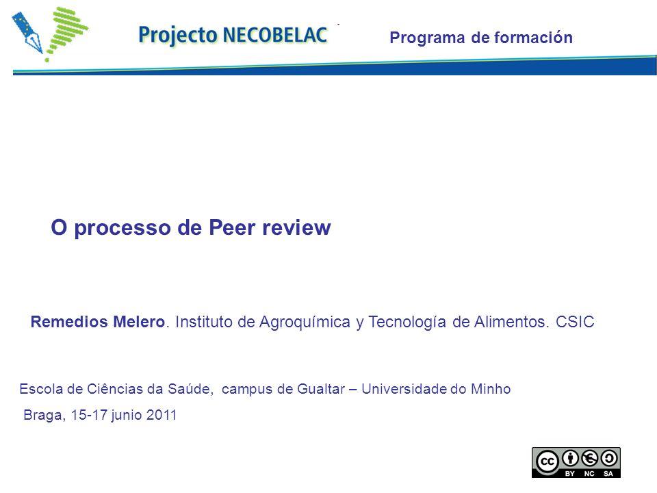Programa de formación Remedios Melero. Instituto de Agroquímica y Tecnología de Alimentos.