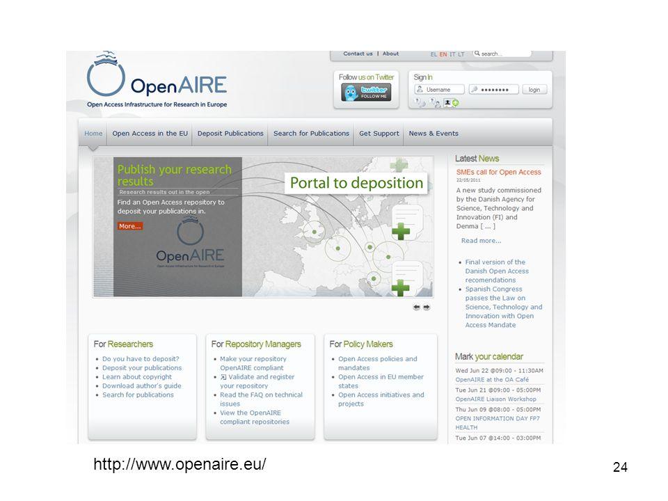 24 http://www.openaire.eu/