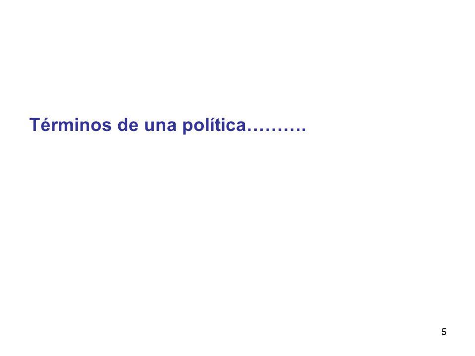 5 Términos de una política……….