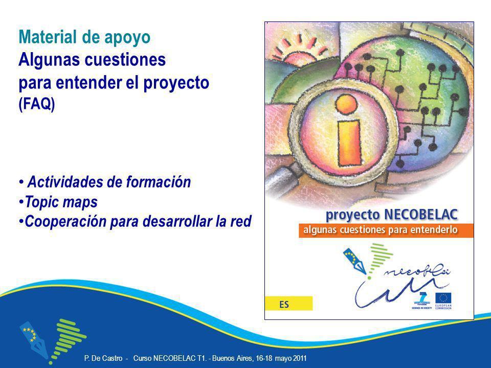 P. De Castro - Curso NECOBELAC T1. - Buenos Aires, 16-18 mayo 2011 Corso NECOBELAC T1. - Roma 18-20 ottobre 2010 9 Material de apoyo Algunas cuestione