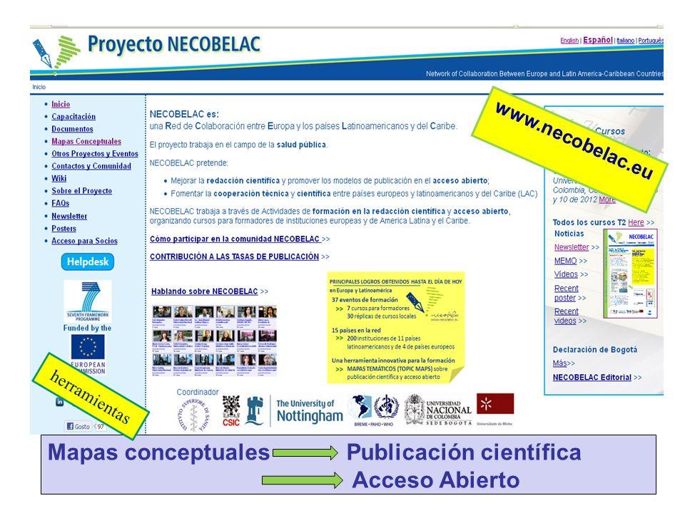 Mapas conceptuales Publicación científica Acceso Abierto herramientas