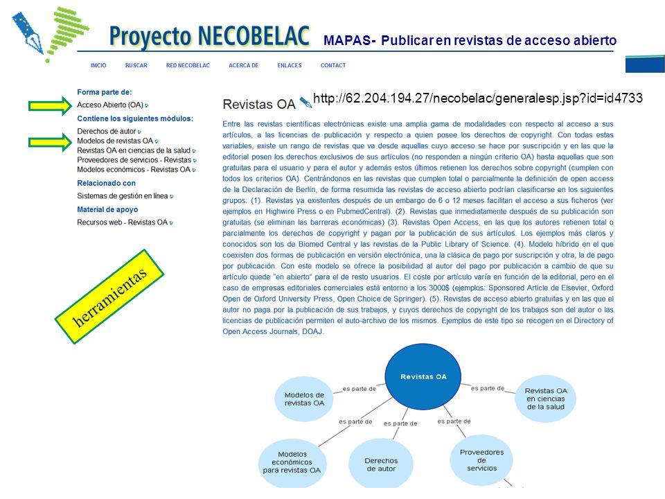 http://62.204.194.27/necobelac/generalesp.jsp?id=id4733 MAPAS- Publicar en revistas de acceso abierto