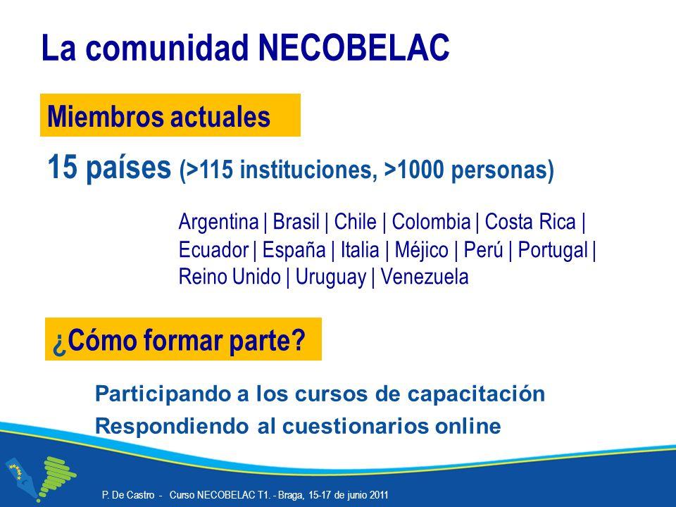 La comunidad NECOBELAC ¿Cómo formar parte.