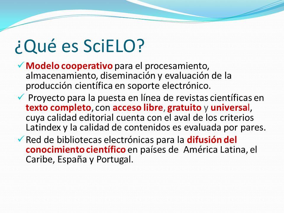 ¿Qué es SciELO? Modelo cooperativo para el procesamiento, almacenamiento, diseminación y evaluación de la producción científica en soporte electrónico