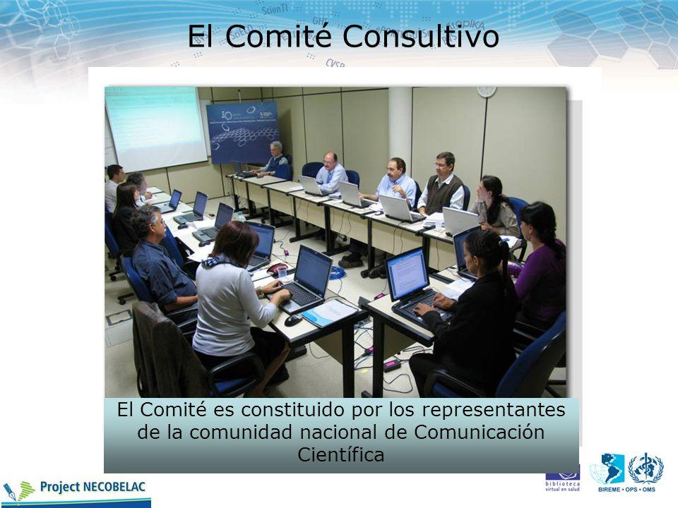 El Comité Consultivo El Comité es constituido por los representantes de la comunidad nacional de Comunicación Científica