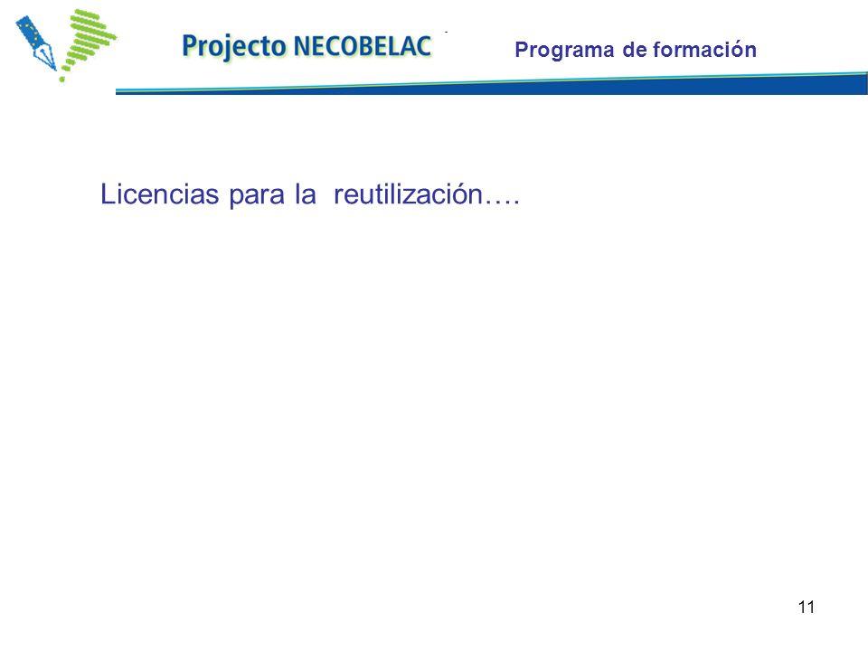 11 Programa de formación Licencias para la reutilización….