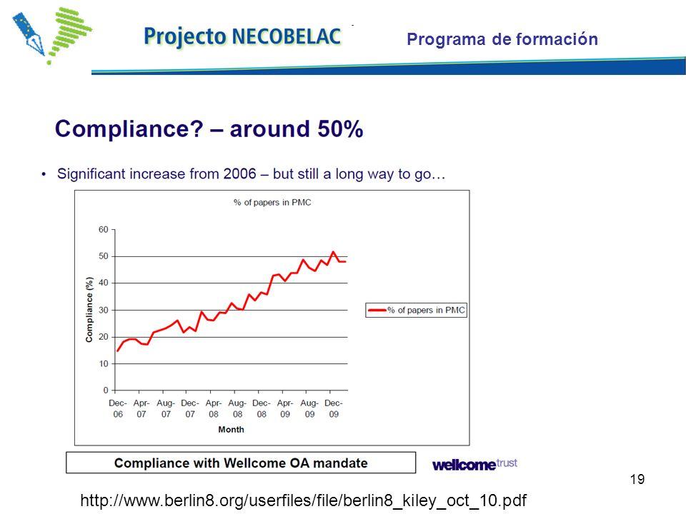19 http://www.berlin8.org/userfiles/file/berlin8_kiley_oct_10.pdf Programa de formación