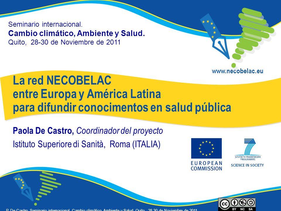 Seminario internacional. Cambio climático, Ambiente y Salud.