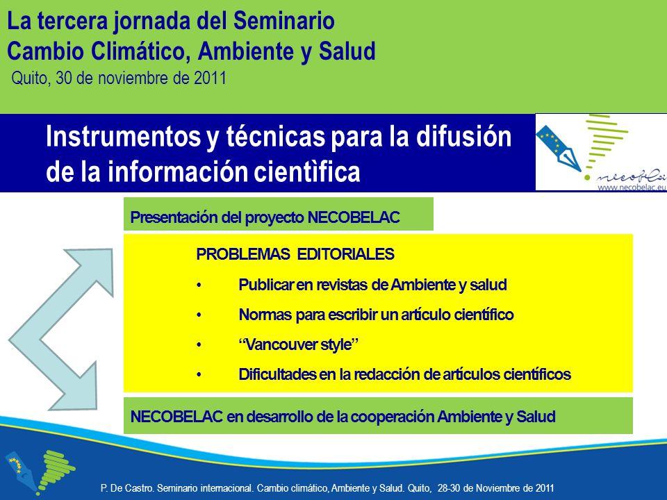 Instrumentos y técnicas para la difusión de la información cientìfica P.