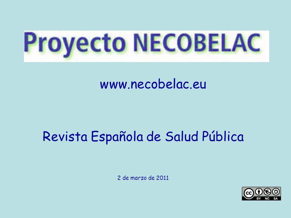 www.necobelac.eu Revista Española de Salud Pública 2 de marzo de 2011