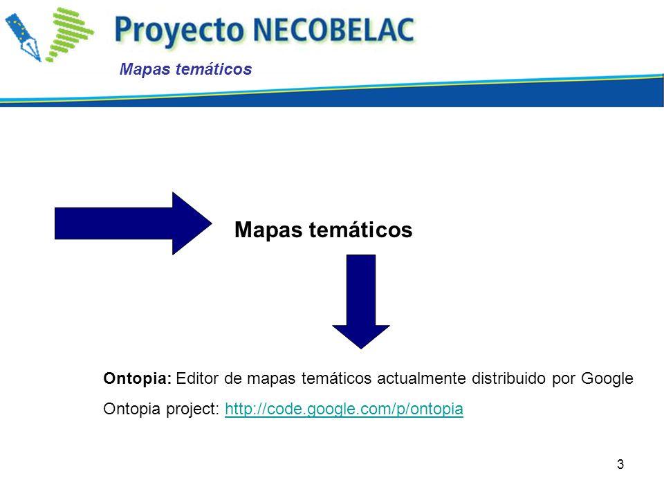 3 Ontopia: Editor de mapas temáticos actualmente distribuido por Google Ontopia project: http://code.google.com/p/ontopiahttp://code.google.com/p/onto