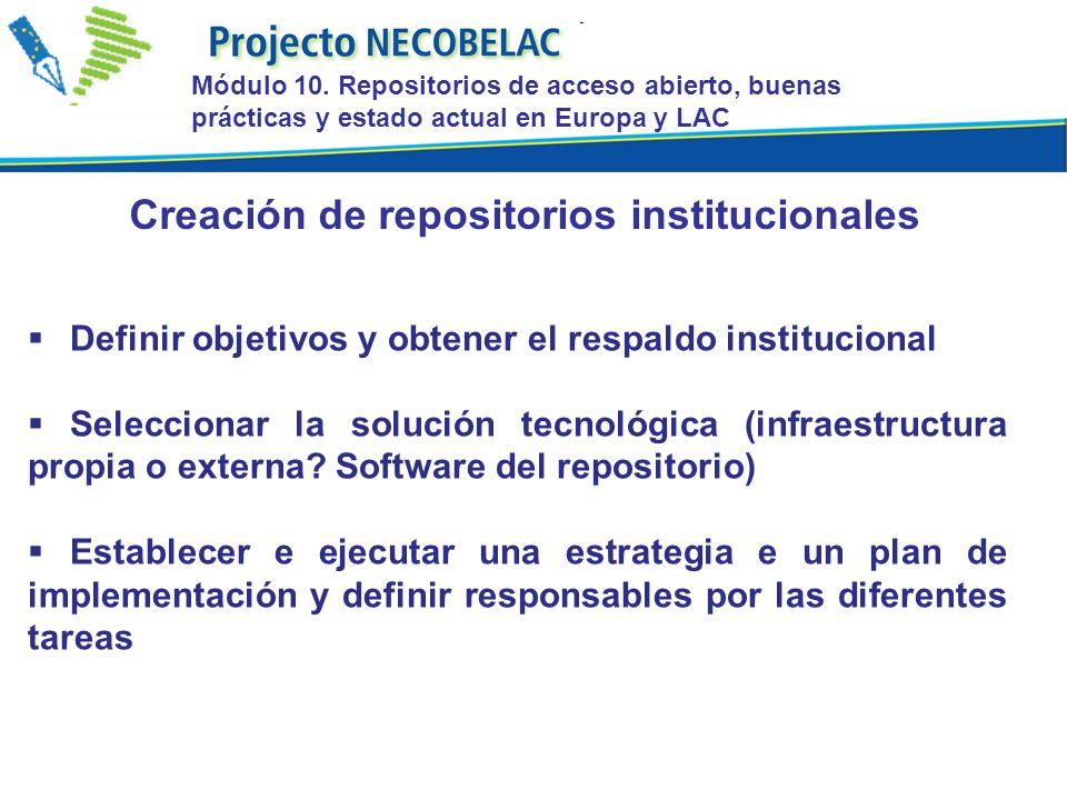Definir objetivos y obtener el respaldo institucional Seleccionar la solución tecnológica (infraestructura propia o externa.
