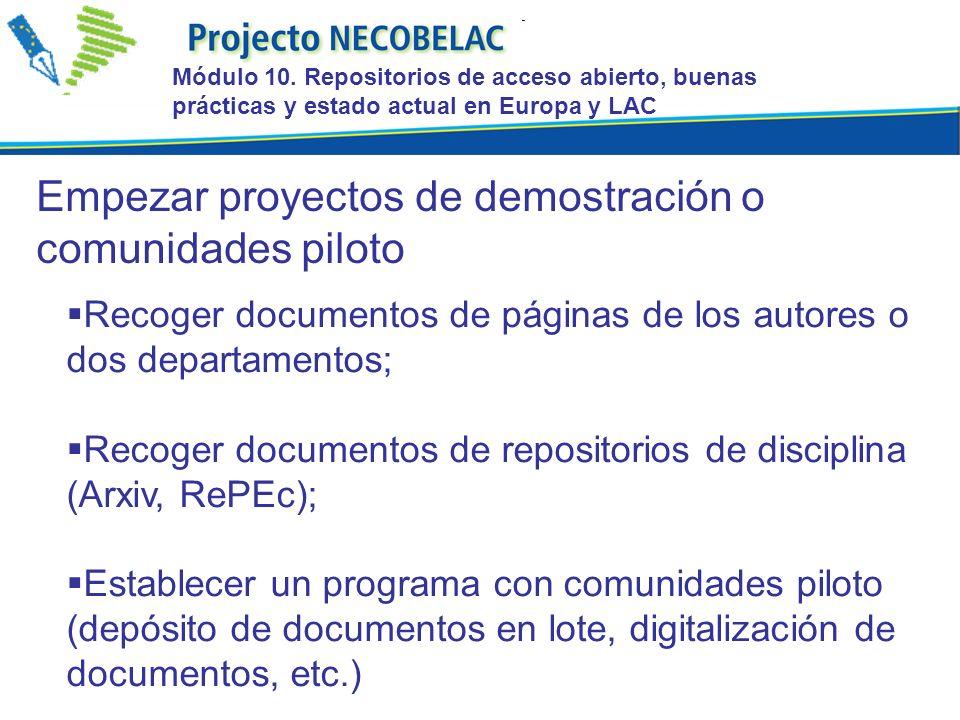 Recoger documentos de páginas de los autores o dos departamentos; Recoger documentos de repositorios de disciplina (Arxiv, RePEc); Establecer un progr