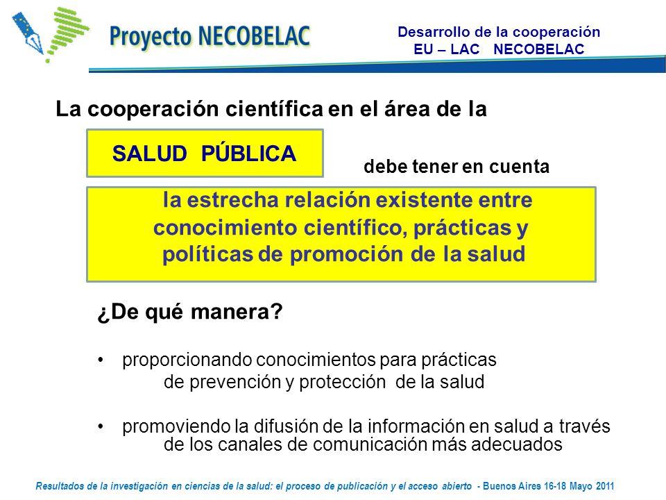 La cooperación científica en el área de la debe tener en cuenta ¿De qué manera.