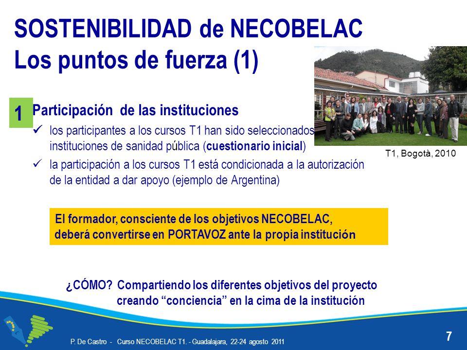 Participación de las instituciones los participantes a los cursos T1 han sido seleccionados entre instituciones de sanidad pública ( cuestionario inic