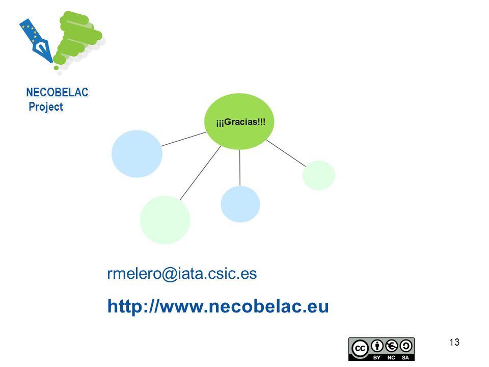 13 rmelero@iata.csic.es http://www.necobelac.eu NECOBELAC Project NECOBELAC Project